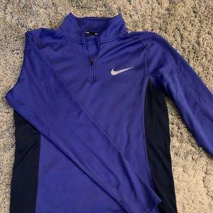 Indigo Nike dri-fit quarter zip